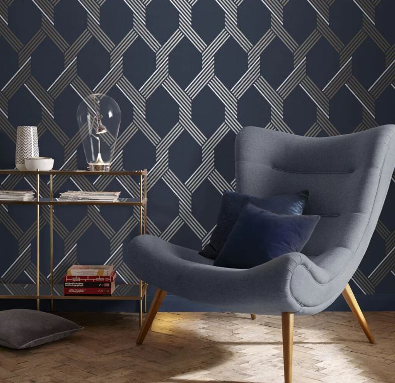 Modern Design Geometric Wallpaper Reading Nook BLOG: Mern Interior Design