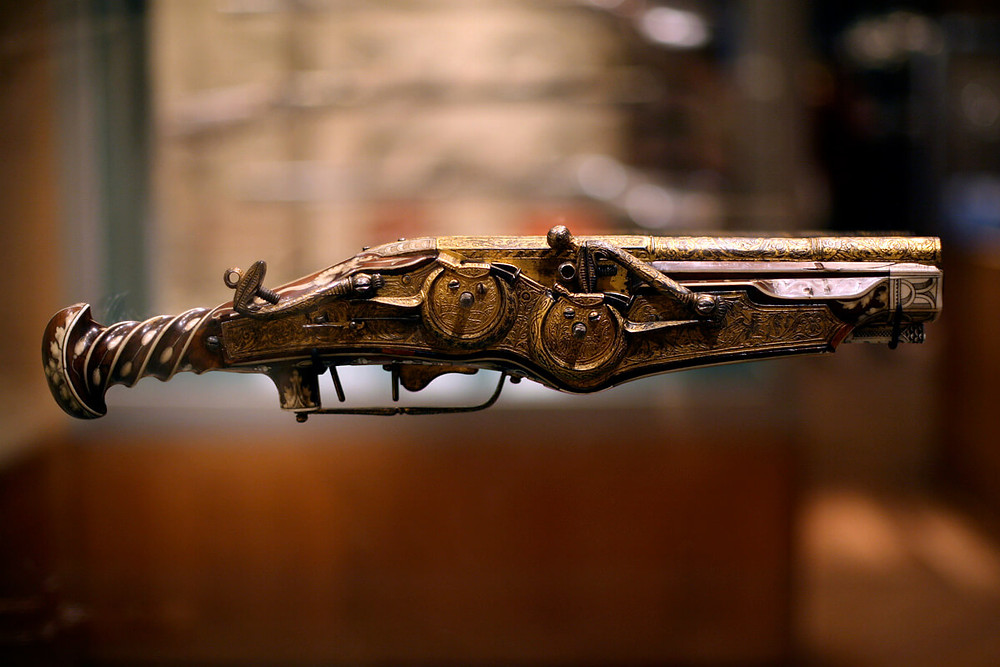 This image is one of the oldest surviving guns in the world