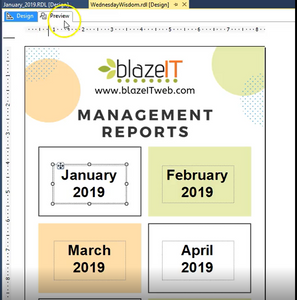 Creating Management Report Landing Pages in SSRS