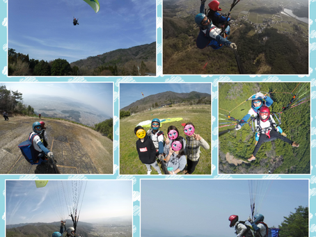 今日は亀岡のバーズパラグライダースクールで山パラグライダータンデムのお手伝い。