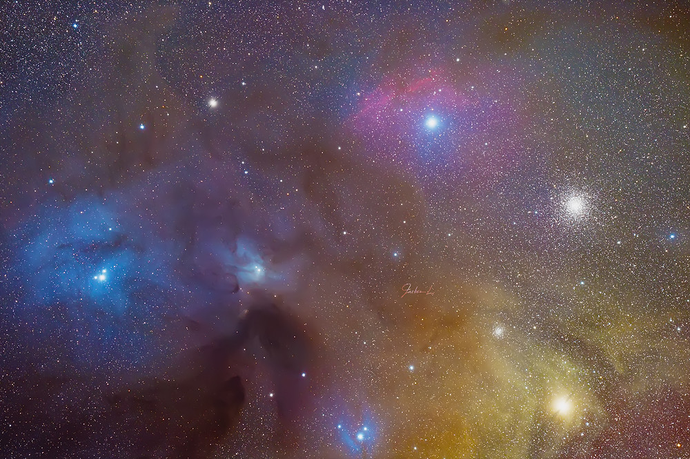蛇夫座ρ星雲複合體 Rho Ophiuchi cloud complex 俗稱星空調色盤