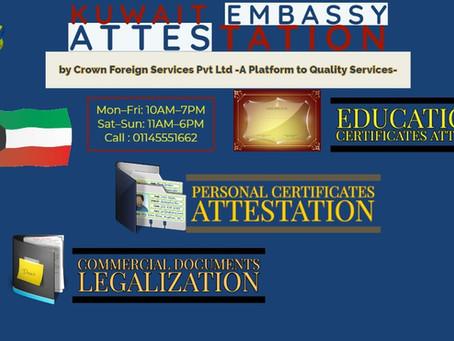 Kuwait Embassy Attestation