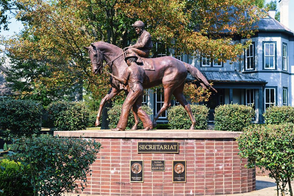 Secretariat monument at the Kentucky Horse Park in Lexington, Kentucky.