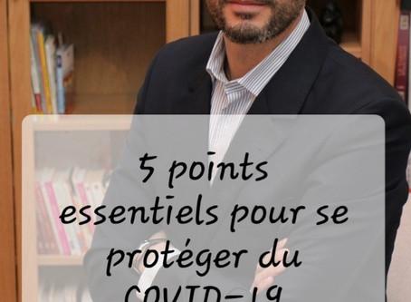 5 points pour se protéger du COVID-19
