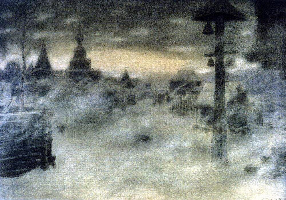 Вьюжит. Метель. Старая Москва (1904 год)