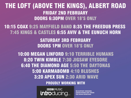 The Loft stage times update.