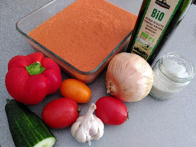 recette du gaspacho light de l'été Océane Weil Nutritionniste Nature Légumes Tomates Concombre Bio Rapide