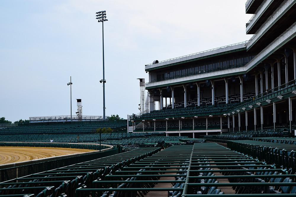 Churchill Downs grandstand in Louisville, Kentucky.