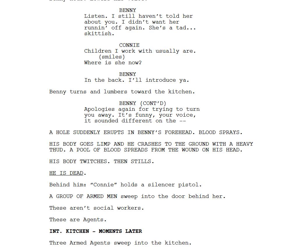 Stranger Things action scene