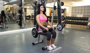 Faça exercícios de panturrilhas sentada
