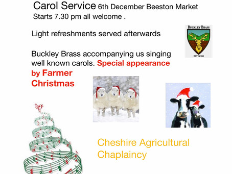 Update on Carol Service Beeston Market 6th December 2018