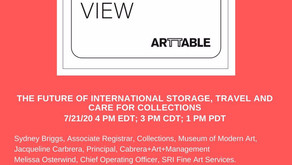 Art Table webinar: The future of international loans, insurance, couriers and storage - July 21