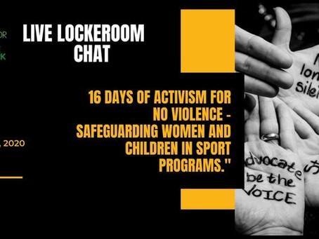 Webinar - 16 Days of Activism for No Violence - Safeguarding Women and Children in Sport Programs