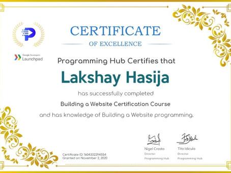 Building a website certification