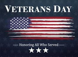 Wednesday, November 11th Thank you Veteran's!!