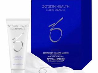 ZO sulfur masque with free small exfoliating wash and white head band!