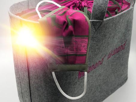 Gerade in Arbeit und schon bald gibt es den Shopper in mehreren Farben und Stoff - Designs....