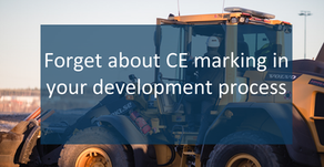 Forget about the CE marking in your development process