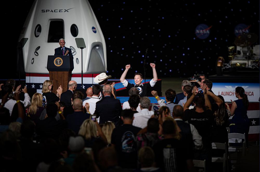 Elon after successful Crew Dragon Launch - John Kraus
