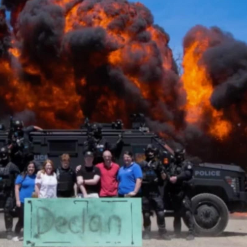 """Kid Gets to """"Blow Stuff Up""""Thanks to Make-A-Wish Foundation and Federal Police"""