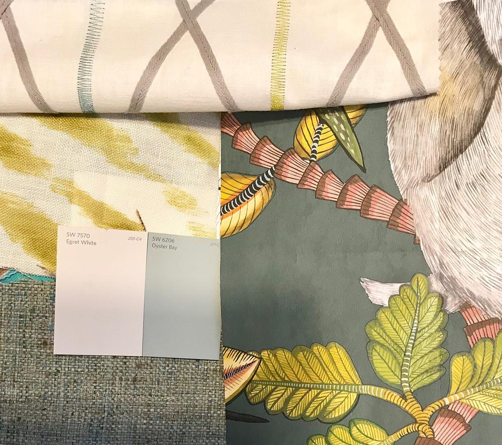 Project samples wallpaper, paint, custom fabrics