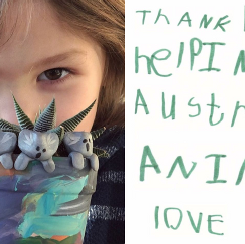 6-Year-Old Is Making Clay Koalas to Raise Money for the Australian Fires - He's Raised Over $60,000