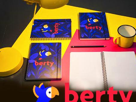 BERTY TECHNOLOGIES // Réalisation, fabrication de carnets de notes