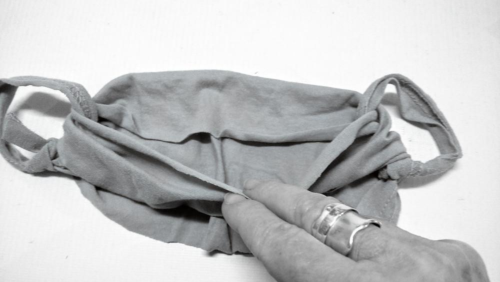 Fold top part of t shirt down
