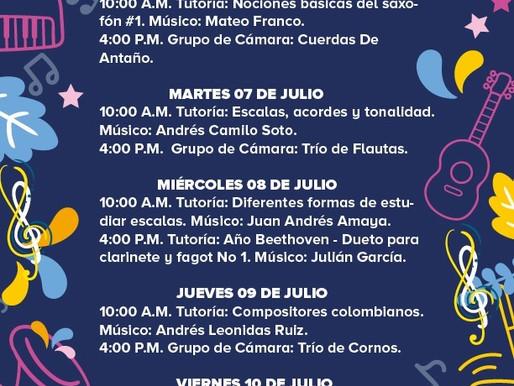 PROGRAMACIÓN BANDA MUNICIPAL DEL 6 AL 10 DE JULIO
