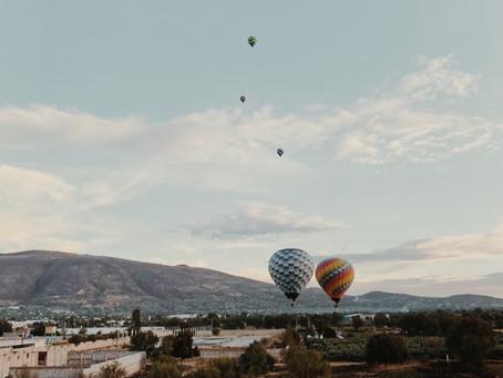 5 lugares espectaculares para volar en globo en México