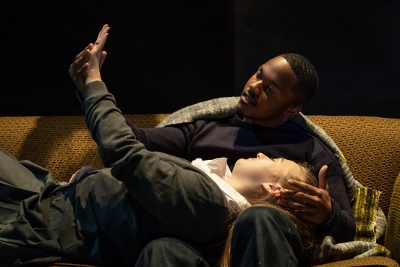 Durone Stokes (Jimmie) and Gemma Dobson (Jo) in the National Theatre's A Taste of Honey credit Marc Brenner