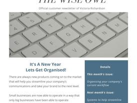Newsletter January 2020 - Let's Get Organised!