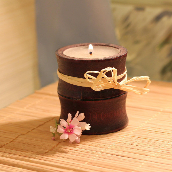 A beautiful scented candle beside your calming, relaxing Salt and Oil bath is a simple joy.
