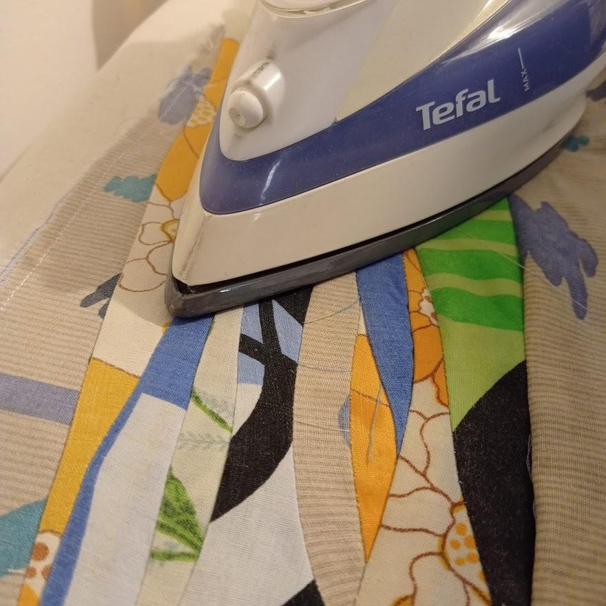 Ironing each strip