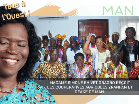 MAN : MADAME SIMONE EHIVET GBAGBO RENCONTRE L'ORGANISATION DES FEMMES, OFFPI-MAN