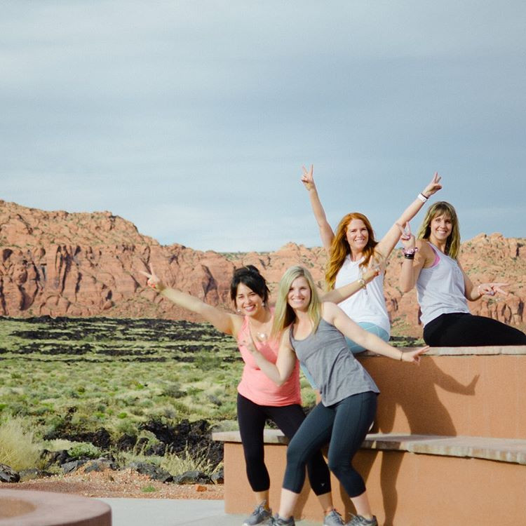 Stunning red mountains and cliffs as the backdrop for your fitness retreat at Red Mountain Resort in Utah