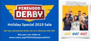 Get you discounts on Pinewood Derby Cars - till Nov 20
