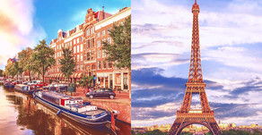 2-in-1! Paris and Amsterdam Vacation with Air from $699!