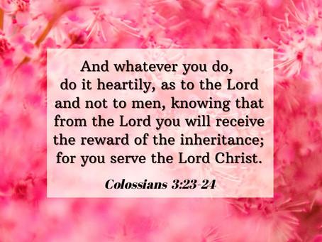 4 November 2020 Word by Honorary Pastor Rev Alicia Teo