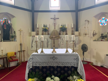 The Sanctuary ready for this weekends celebration