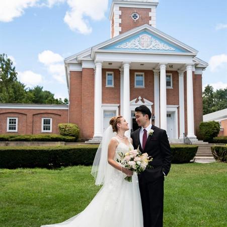 Julie and Daniel's Blush Micro-Wedding, Fairfield, Connecticut