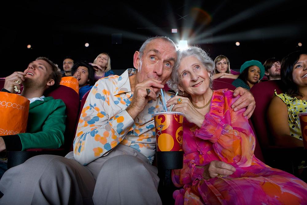 Abuelos en el cine.