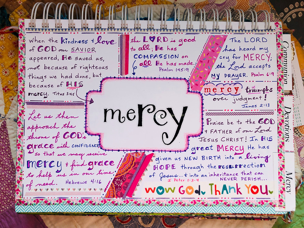 Mercy page in my #biblequiltjournal