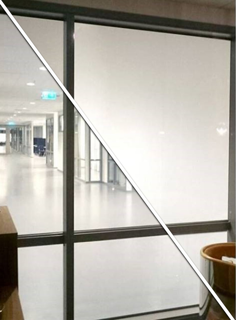 glass partitions with switchable smart glass