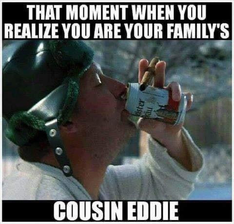 The moment you realize you are your family's cousin Eddie
