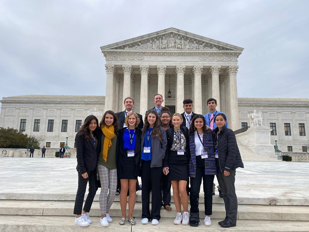 The Chikasha Pehlichi Ikbi Youth Leadership Program attended the Close Up Foundation's annual American Indian Youth Summit in Washington, D.C. The group was able to visit the U.S. Supreme Court.