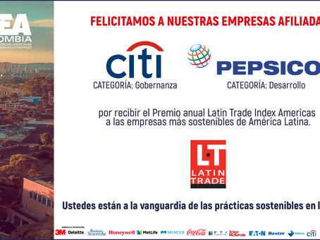 Reconocimiento Latin Trade Index Americas a Empresas Afiliadas