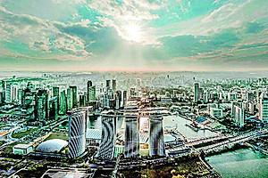 제4타워 건립으로 확장을 추진하고 있는 싱가포르 마리나 베이 샌즈