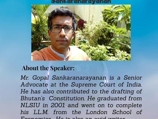 Open Session with Sr. Adv. Gopal Sankaranarayanan
