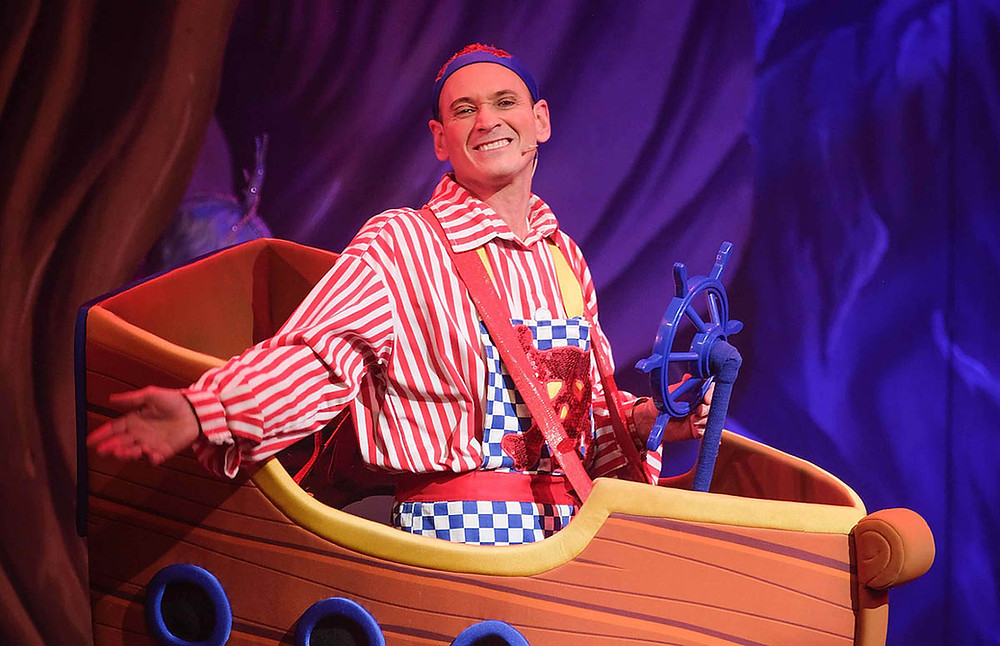 Steve Royle sailing away as Smee in Peter Pan at Blackpool Grand. All pictures: Martin Bostock
